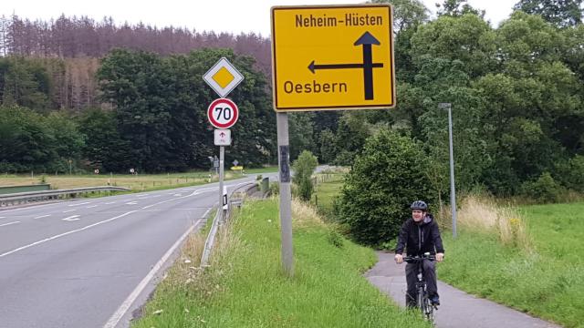Ende des Radweges nach Neheim
